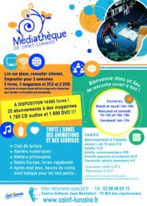 flyer mediathèque projet instinct graphik cyrielle hergué