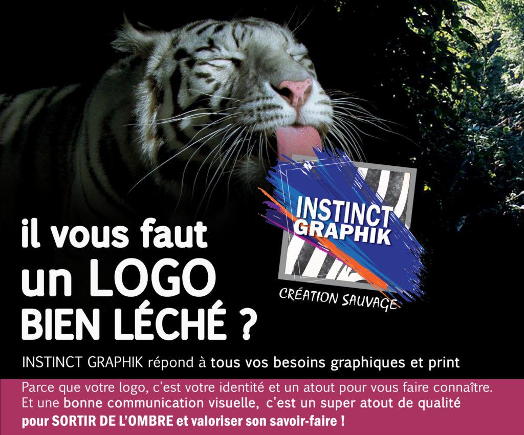 tigre lecher logo instinct graphik
